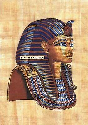 Egyptian Papyrus Art Painting - King Tut's Mask #9R + Hand-Painted