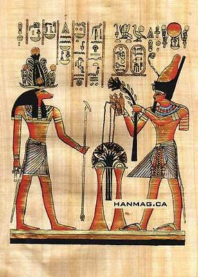 Egyptian Papyrus Painting - Khanom and Ramses II #56