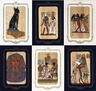 "2 Egyptian Papyrus Greeting Cards 6½ X 4½ "" with Free envelopes + Hand Painted"