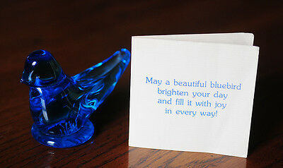 Vtg Bluebird Of Happiness Handcrafted Art Glass Paperweight Signed By Ron Ray