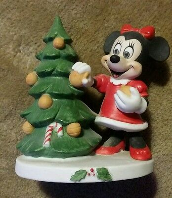Vintage Porcelain Minnie Mouse Decorating Christmas Tree Disney Gift Ware