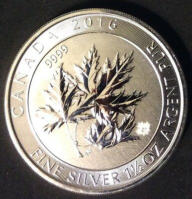 Silver Coin - Multi Maple Leaf - 2016 - Canada 1.5 Once