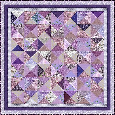 "LAVENDER LADIES - 52"" - Pre-cut Quilt Kit by Quilt-Addicts Lap size"