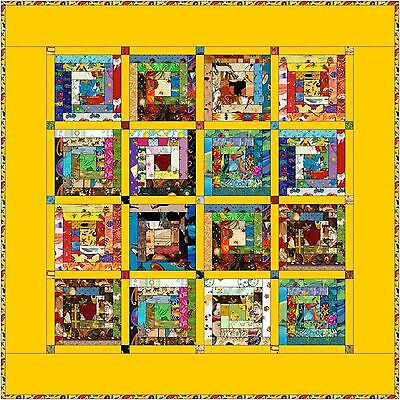"HUMPTY DUMPTY - Yellow - 48"" - Quilt-Addicts Pre-cut Patchwork Quilt Kit Lap"