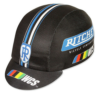 NEW Pace Ritchey WCS CoolMax Cycling/Bicycle Cap - Black w Stripe - Made in USA