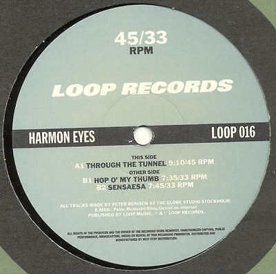 "HARMON EYES Through The Tunnel LOOP 016 Trance 12"" MIX"