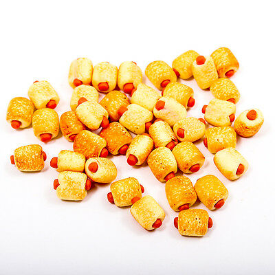 5PCS Sausage Roll Bread Bakery Food 8x10mm 1:12 Scale Miniature Dollhouse A1741