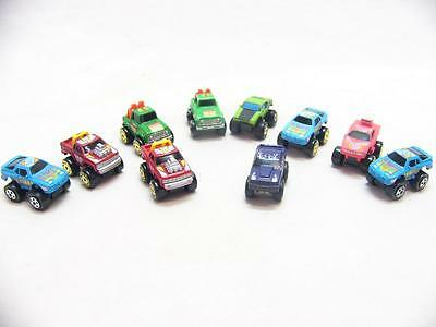 MICRO MACHINES - MINIATURE CAR COLLECTABLES - MONSTER TRUCKS (x10) (2/4)