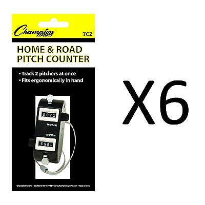 Champion Home/Road Dual Baseball And Softball Pitch Tally Counter (6-Pack)