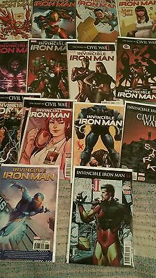 Invincible Iron Man #1-14 2016) Complete Set Death of X Variant Included