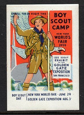 USA 1939 Boy Scout Day. poster stamp
