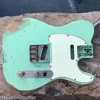 Real Life Relics Aged Custom Surf Green Tele Telecaster Body #2