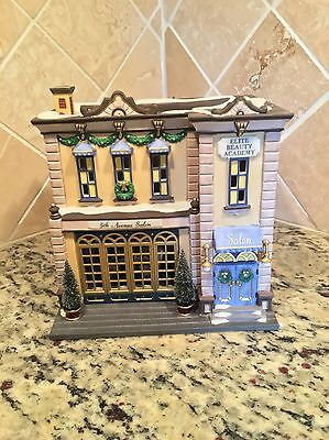 Department 56 Christmas In The City Series 5TH AVENUE SALON With Original Box