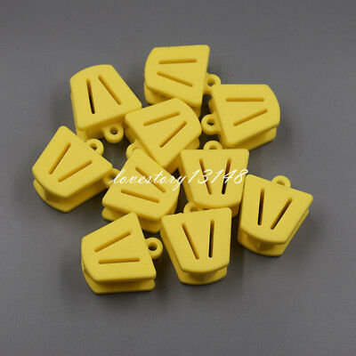 10 Pcs Dental Silicone Mouth Prop Bite Block Rubber Opener Retractor Size Yellow
