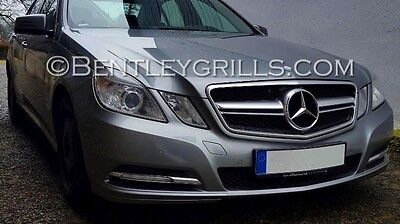 Mercedes W212 S212 E 2009-2013 Silver Chrome AMG LOOK Complete Front Grille