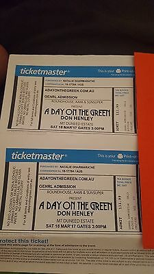 Don Henley Tickets x 2