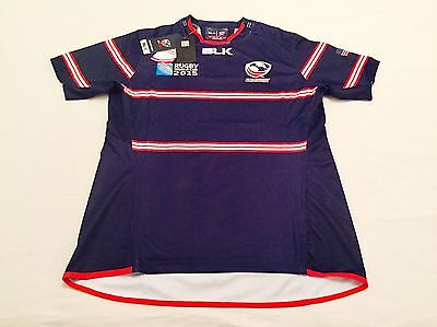 """""""USA"""" Camiseta Oficial Shirt Maglia BLK Rugby World Cup RWC 2015 - size """"M""""."""
