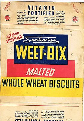 Vintage  Weet bix box panel with 1951 shearing tally on the back
