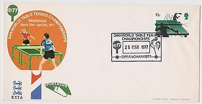 34th WORLD TABLE TENNIS CHAMPIONSHIPS 1977 COVER