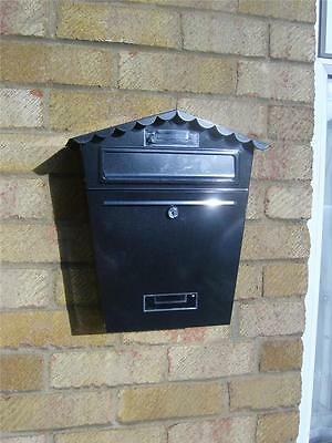 Brand New Steel Post Box Postbox Lockable Letter Mail Wall Mounted