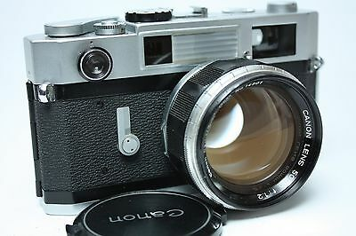 Canon 7S 35mm Rangefinder Film Camera +50 mm f1.2 lens from Japan Excellent+++