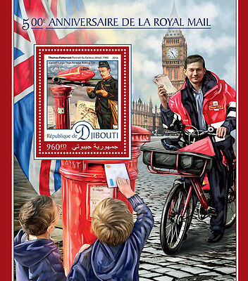Djibouti 2016 MNH Royal Mail 500th Anniv 1v S/S Big Ben Pillar Boxes Stamps