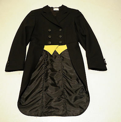 Grand Prix shadbelly black hunt coat show jacket KIDS GIRLS 10 $475