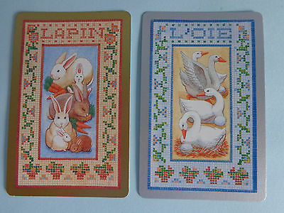 Pair Of  Cute   Swap Playing Cards , 1 Silver 1 Gold.