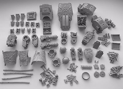 Forge World CHAOS WARHOUND TITAN BODY + PLASMA BLASTGUN + VULCAN MEGA BOLTER