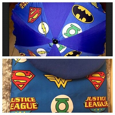 Baby Parasol Sun Shade Footmuff Cosy Pushchair Pram Superhero Batman Superman