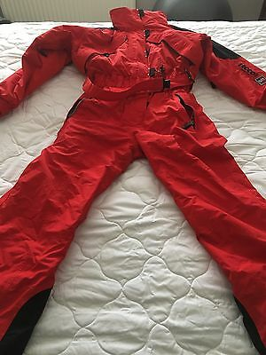 red unisex Ski Suit Size medium
