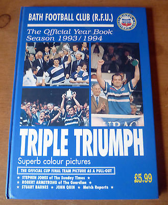 Bath Rugby Club - Autographed Official Year Book, 1993/94.