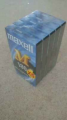 180 minute MAXELL VHS Video Tapes (5 pack)