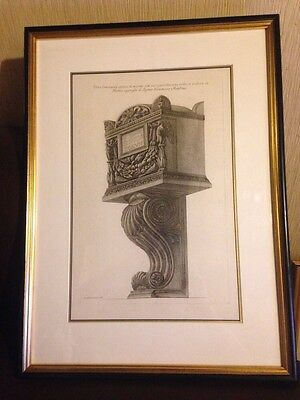 Giovanni Battista Piranesi Etching 1800-09 Urn Architect office picture class
