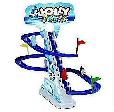 New Jolly Penguin Race Favorite Toy! Penguins Climb Stairs & Slide Down Sealed
