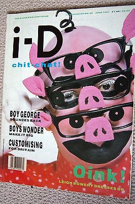i-D ID I-D MAGAZINE Leigh Bowery Boy George Issue 48 June 1987 80s fashion
