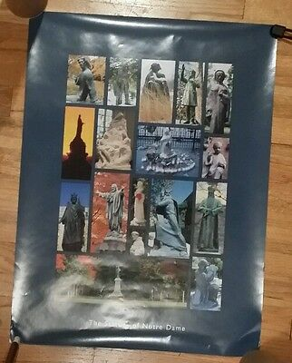 """statues Of Notre Dame"" Poster University Of Notre Dame Campus Photographs 18X24"