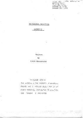 "Photocopy of script for ""Showdown"", unfilmed episode.  Battlestar Galactica"
