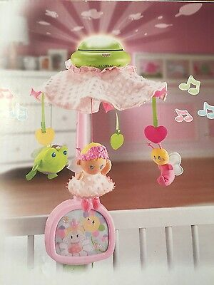Fisher Price Pink Lights and Sound 2 in 1 Mobile