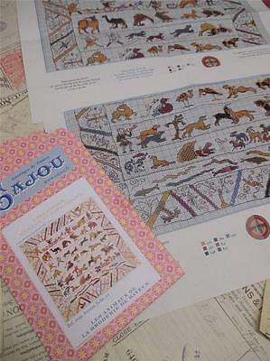 Sajou Museum & Heritage  Cross Stitch Chart- The Bayeux Tapestry Animals