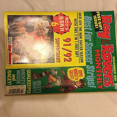 Roy of the Rovers November 1991 Monthly Special Magazine