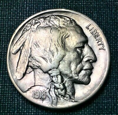 1916-D Buffalo Nickel Choice UNC BU