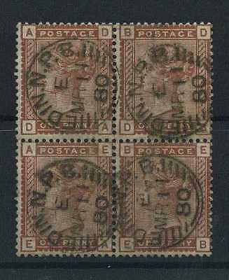 Queen Victoria - 1880-81 -  1 penny Catal.Yvert n.68 Block of four stamps (3)