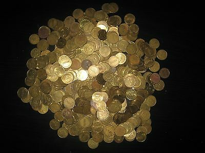 Over 500 Namco Pacman Arcade Tokens Over 4.5 Pounds Lot 1B63