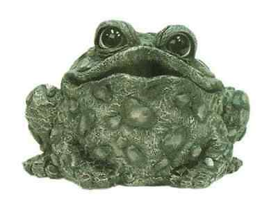 Toad Hollow Statue Croaking Toad 6 In. Tall Green