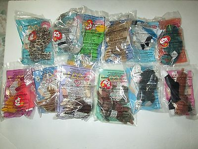 McDonald's Ty Teenie Beanie Babies (1999) complete set of 12 - Happy Meal toys