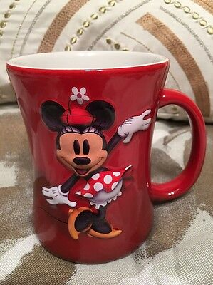 Walt Disney World Minnie Mouse 3D Ceramic Red Coffee Cup- Mug Collectible