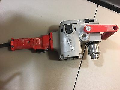 """MILWAUKEE 1675-1 HOLE HAWG 1/2"""" RIGHT ANGLE DRILL HEAVY DUTY used excellent cond"""