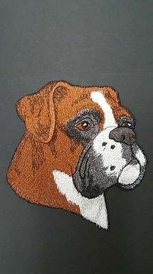 """Boxer Dog Embroidered Embroidered Patch 5.9"""" x 5.8"""""""