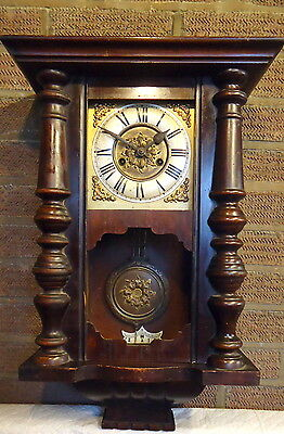 VIENNA WALL CLOCK.  for Restoration or Spares, c1890